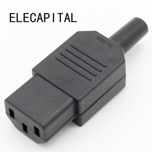 New Wholesale Price Black IEC 320 C13 Female Plug Rewirable Power Connector 3pin Socket 10A /250V