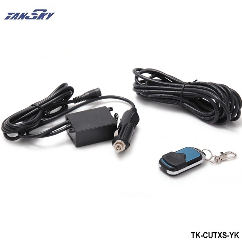 TANSKY - Wireless Remote control 12ft Wiring Harness For Valve Cutout System Dump For Ford Mustang 2005-10 V8 ZAP TK-CUTXS-YK