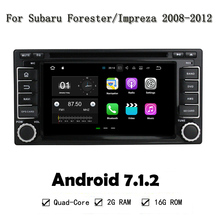 2G RAM Android 7.1.2 Quad Core Car DVD Player Head Unit For Subaru Forester Impreza 2008-2011 4G WIFI GPS Navi Radio Head Unit(China)