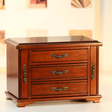 Wooden jewelry storage box electronic mechanical 30 music birthday gift girlfriend gifts wedding Christmas free shipping(China)