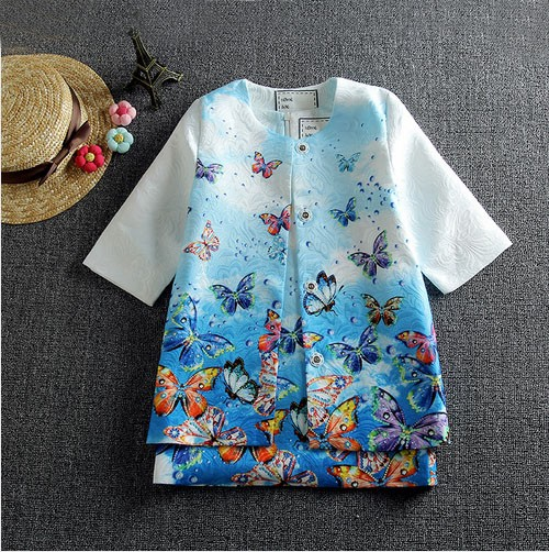 Baby Girls Dress 2016 Children Clothing Winter Girls Clothes Vestidos Butterfly Printed Kids Dresses for Girls (Dress+Coat)<br>