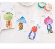 Miss Time vegetable head sticky memo pad notepad paper message note(China)