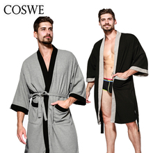 Buy COSWE New Cotton Men Robe Mens Winter Robes Long Male Bathrobe Pijamas Masculinos Bathrobes Man Nightwear Mans Dressing Gown for $35.18 in AliExpress store