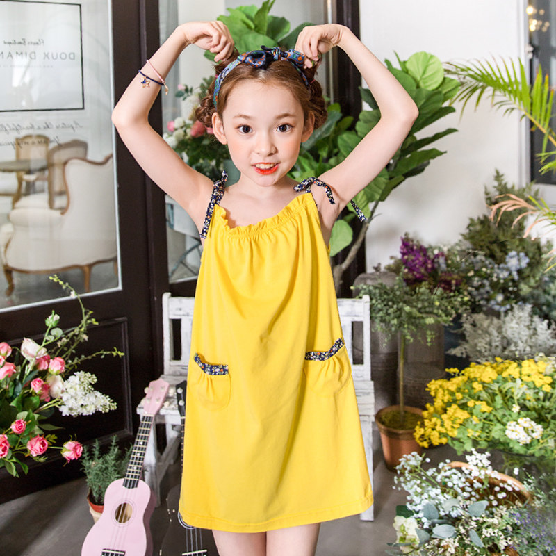 2017 Summer Girls Beach Dress Beautiful Cute Frocks for Big Girls Clothes Party Design Birthday Age 5 6 7 8 9 10T Years Old Girl<br>