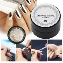 5g/box Shinning Mirror Nail Magic Powder Silver Gorgeous Nail Art Chrome Pigment Glitter Dust Metallic Effect Manicure Care(China)