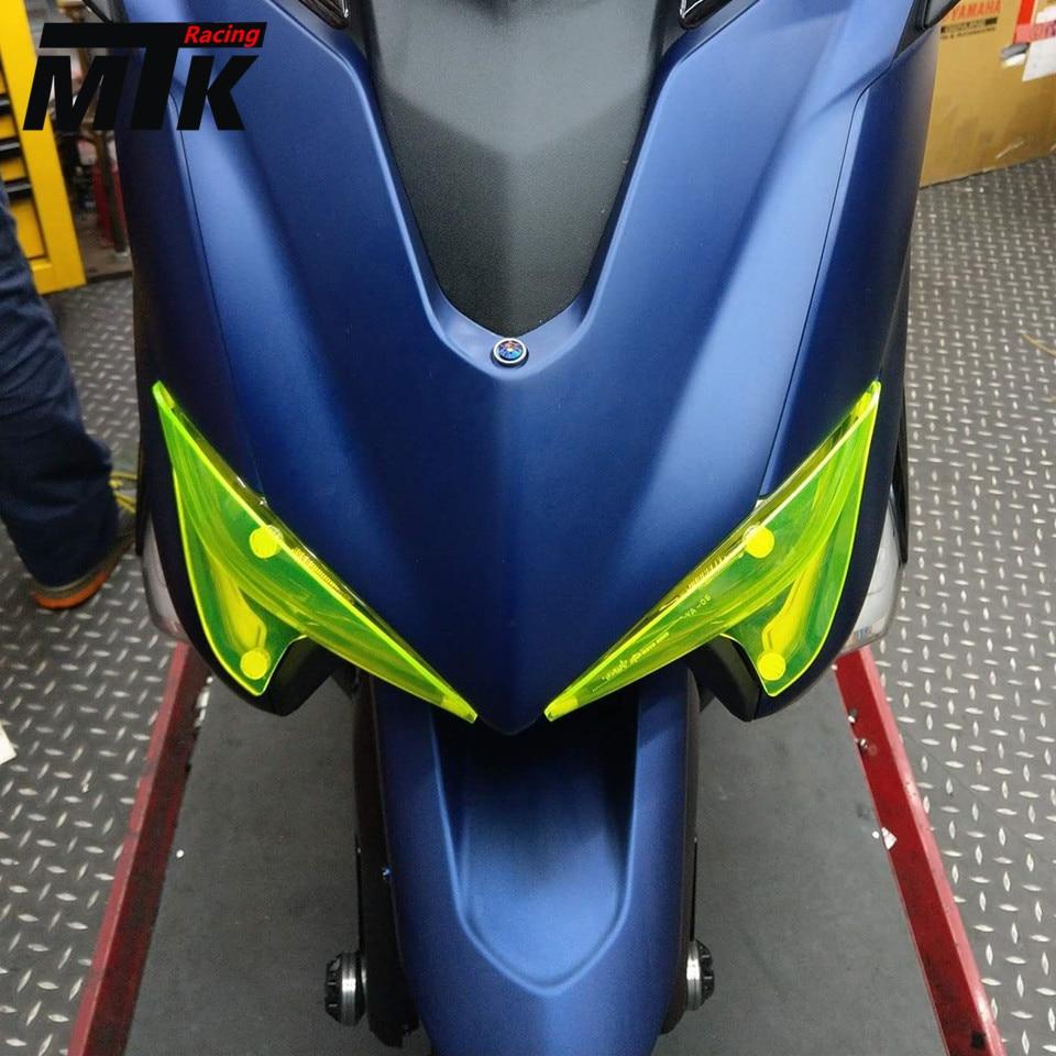 MTKRACING For Yamaha Tmax 530 2017 TMAX530 2017 High Quality Motorbikes Acrylic Headlight Protector Cover Screen Lens<br>