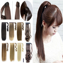"26"" 66CM Long Clip In Hair Extension wrap around clip on ponytail hair real natural hair piece Straight Style FAST FREE SHIPPING"