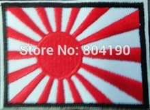 JAPAN FLAG EMBROIDERED RON-ON PATCH JAPANESE KAMIKAZE NAVY JACK wholesale Free Shipping 8.6x5.6cm