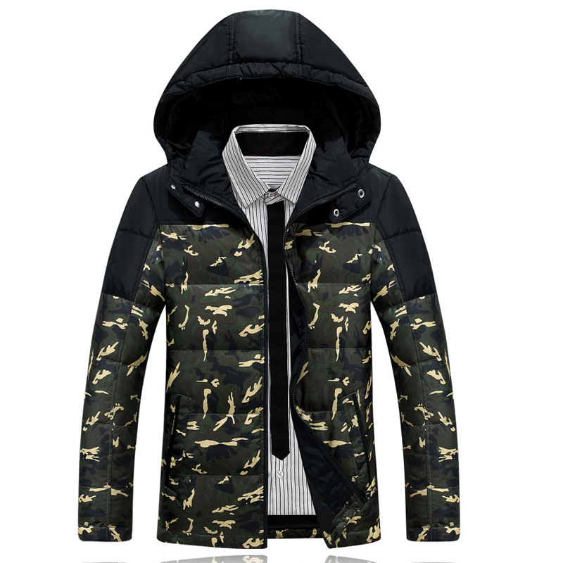 gray Winter Jacket Men New Thick Warm Parka slim sporting Men Down Jacket Hooded student Cool cotton coat NO ShirtОдежда и ак�е��уары<br><br><br>Aliexpress