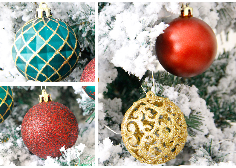 08 inhoo 6cm Christmas tree decorations Balls Ornaments Pendant 20pcs Red green white gold Ball Accessories For Home Xmas Party Hot