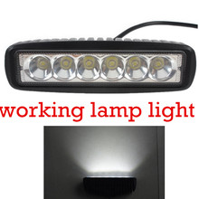 2pcs18W LED Work Light Truck 4x4 SUV ATV Spot 12V for Indicators Motorcycle Driving Offroad Boat Car Tractor 6 Inch high quality(China)