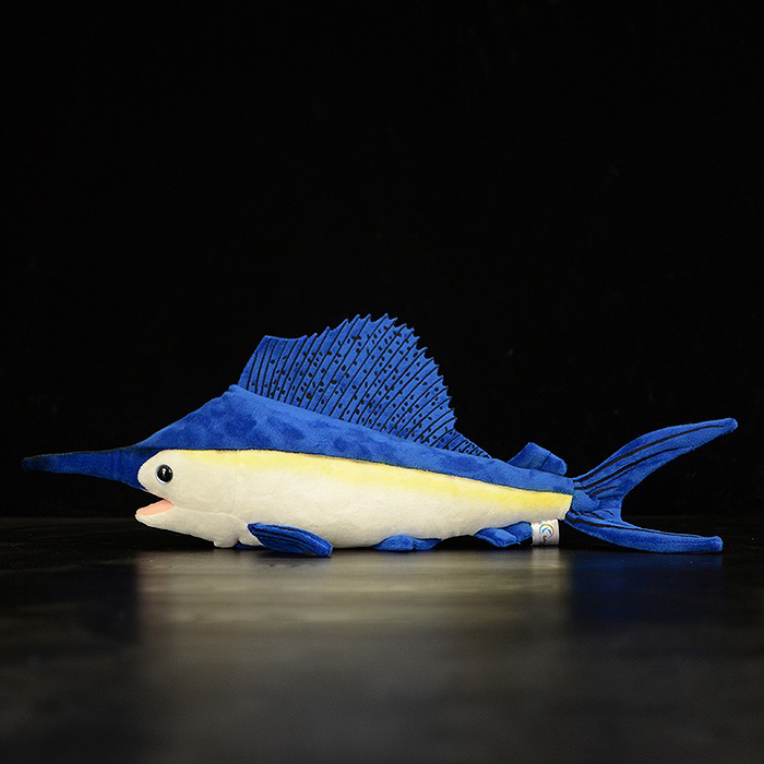 40cm Soft Simulation Sailfish Stuffed Toys Lifelike Sea Animals Plush Toy Huggable Fish Plush Dolls For Children Gifts<br>