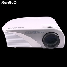 LED Projector 854*480 Portable Projector Support Red/blue 3D Moive 120inch Big Screen Kenitoo Factory Direct Sale Free Shipping