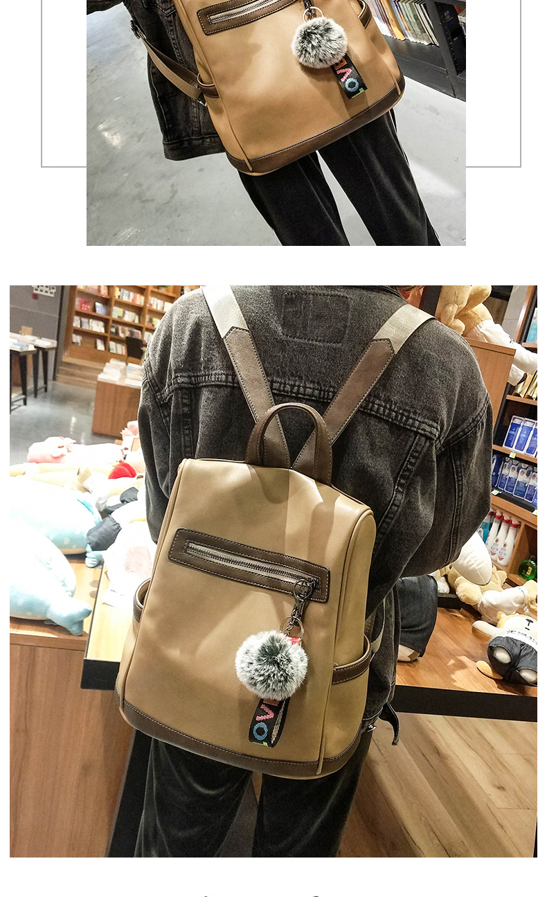 2018 New High-end Fashion Backpack Trend Simple Personality Fashion Campus Bag Large Capacity Bag Soft Leather Travel Backpack 48 Online shopping Bangladesh