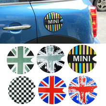 For Mini Cooper Fuel Tank Cap Cover 3D Glue Sticker Convertible Clubman Hatch Hardtop Countryman Paceman R50 R53 R55 R58 R60 R61(China)