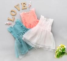 Factory direct new summer 0-3 year old girl fashion lace princess dress(China)