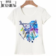 Newest casual summer women t shirt Peacock feathers Printed t-shirt cotton Short sleeve big size cool tshirt Brand Tops Tees