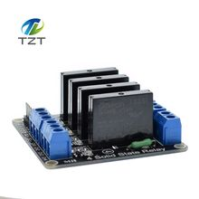 1pcs 4 Channel 5V DC Relay Module Solid State High Level  SSR AVR DSP for Arduino