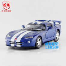 Free Shipping/1:36 Scale/Dodge Viper GTSR/Educational Model/Classical Pull back Diecast Metal toy car/For Collection or Gift