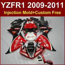 Santander Sika Motorcycle parts for YAMAHA fairings YZF R1 09 10 11 12 R1 red bodyworks YZF1000 R1 +7Gifts YZF R1 2009 2010 2011