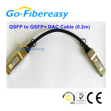 1pcs QSFP to QSFP+ DAC Cable (0.5m) 40Gb Direct Attach Passive Copper Cable MPO connector
