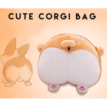 lovielf Small Cute animal pet dog corgi butt bottom plush storage bag S / M creative Christmas gift for kids children girl
