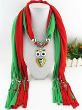 7 color duoble color scarf necklace 2017 new arrival fashion multi scarf with owl scarfs