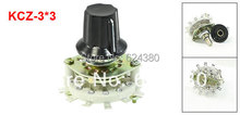 KCZ-3*3 Plastic Knob Ceramic Structure 3P3T Three Pole 3 Position Channel Band Rotary  Switch Selector