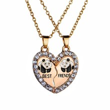 2017 New Europe And The United States Jewelry Best Friends Girlfriends Nest Sets Good Friend Panda Pendant Necklace(China)