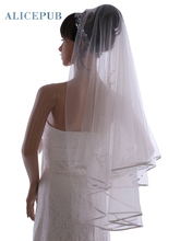 Ivory One Tier Voile Waltz Length Wedding Veil Bridal Veil Handmade Soft Tulle Bride Hair Accessories Free Shipping
