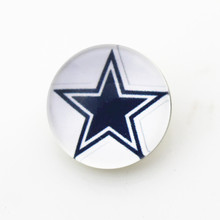 50pcs/lot Dallas Cowboys NFL Team Snap Buttons Fit 18mm Sports Ginger Snap Jewelry Bracelets&Bangles