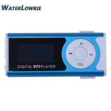 "Waterlowrie Brand New Mini Clip 1.3 "" LCD Screen MP3 Music Player Portable mp 3 Player With Flashlight Support Micro TF Card"