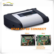 2017 Best MB Star C4 multiplexer star diagnosis mb star c4 sd connect Xentry multi language MB c4 wifi with star c4 cables