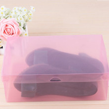 Transparent shoebox Popular Hot Sell 1PC Foldable Clear Shoes Storage Box Plastic Stackable Shoe Organizer Wholesale(China)