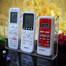 Wall hanging conditioner TV remote control Organizer storage box transparent Mobile Phone Stationery holder cassette shelf(China)