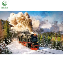 diy 5d diamond painting landscapes forest train mosaic pattern resin craft diamond cross stitch oil painting decoration pictures