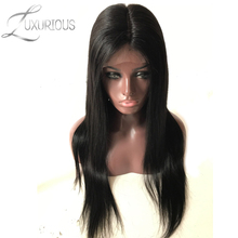 Luxurious Silk Base Full Lace Wigs Straight Brazilian Remy Human Hair For Black Women Natural Color 8-24 Inch