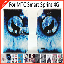 For MTC Smart Sprint 4G Wallet Card Slots Book Style Flip PU Leather Case Cover Phone Case Fashion !