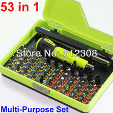 53 In 1 Precision Torx Socket Screw driver Screwdriver Set Hex Cross Philips Tools Kit Case For Mobile iPhone TV Computer 8921