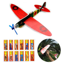 DIY Hand Throw Flying Glider Planes Foam Mode Diecast Airplanes Assembly Kids Toys Game Prizes Gift Model Play Game(China)