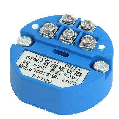 PT100 Temperature Sensor Transmitter 0-50C Output 0-10V DC Power 24VDC<br><br>Aliexpress