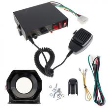 Universal 200W 12V 8 Sound Speaker Car Warning Alarm Police Fire Siren Horn PA with MIC System(China)