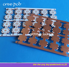 20mm High Thermal Conductivity Pure Copper LED PCB Board for MKR XML CREE LED 50pcs(China)