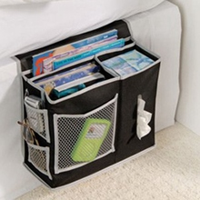 household bed Sofa hanging bedside Storage bag Hang Sundries ,Magazines, remote control,books, phone,Tissue Holder Organizer