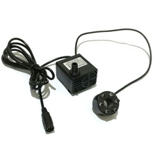 DC12V 5W 500L/H Mini Water Pump Brushless Fish Tank Aquarium Waterpump Fountain Pond Pool LED Light Decor