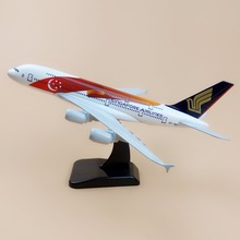 Alloy Metal Red Air SINGAPORE Airlines Flag A380 Airplane Model SINGAPORE Airbus 380 Airways Plane Model Aircraft Gifts 18cm(China)