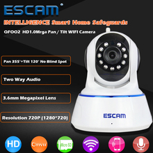 ESCAM QF002 HD 720P IP Camera Wireless Digital Baby Monitor Night Vision P2P WifIi Infrared Security Surveillance CCTV Dome Cam(China)