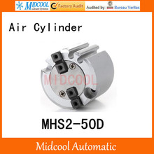 MHS2-50D double acting pneumatic cylinder gripper pivot gas claws parallel air 2-fingers SMC type cylinder