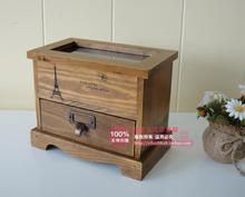zakka do the old wooden wood vintage wooden storage cabinets glass cosmetic perfume clamshell cabinet