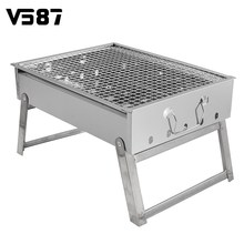 Barbecue Stove Stainless Steel Outdoor Barbecue Rack Portable Outdoor Charcoal Barbecue Home Oven Set Cooking Picnic BBQ Camping(China)